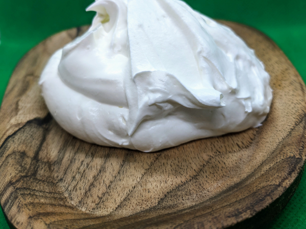 Whipped body butter example consistency